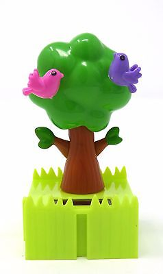New Solar Powered Dancing Connectables Tree With Birds   Free Shipping