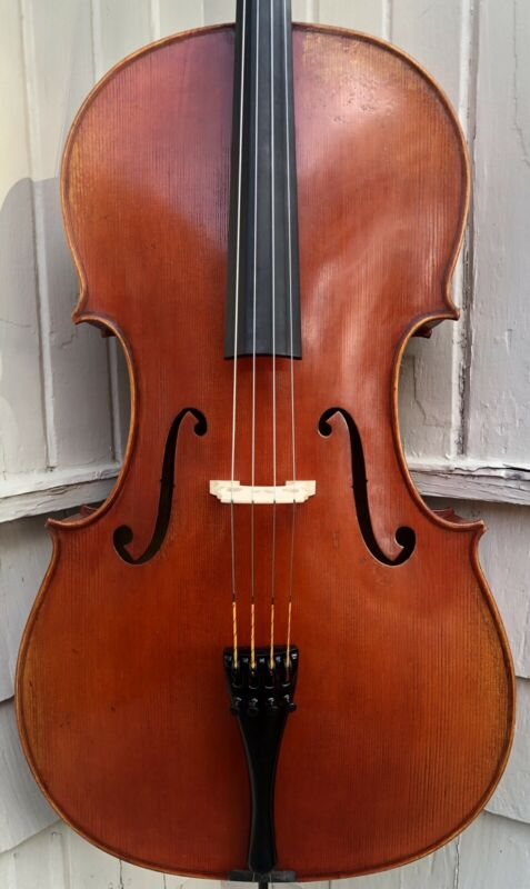 Frederich Wyss cello (Ohlstadt, Germany), Eastman hardcase & silver-mounted bow