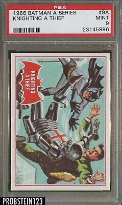 1966 Topps Batman A Series #9A Knighting A Thief PSA 9 MINT