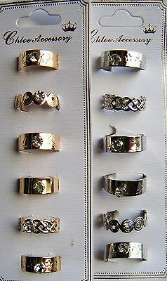 NEW WHOLESALE LOT OF 12 PC TOE RINGS FASHION JEWELRY