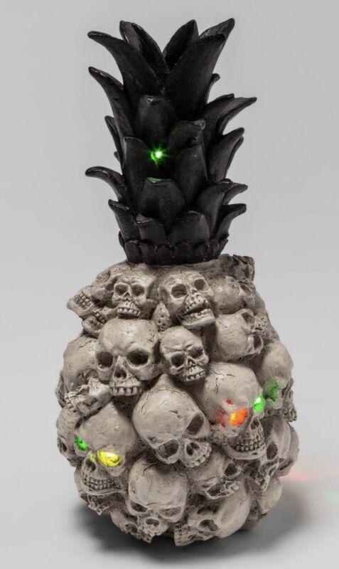 Hyde & EEK Light Up Skull Pineapple Halloween Decor Boutique NEW IN HAND