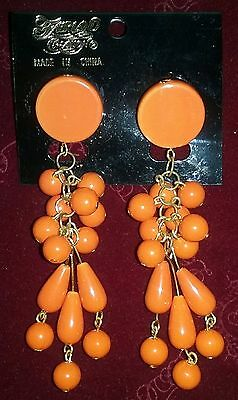Fairland Creation Tropical Party Theme Orange Costume Dangle Earrings](Tropical Themed Costume)