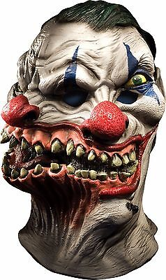 Siamese Clown Mask Wide Smile ICP Evil Adult Creepy Halloween Costume Two Heads (Creepy Smile Halloween)
