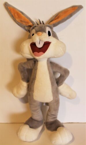 """2017 Bugs Bunny Looney Tunes Six Flags Plush Exclusive Posable Ears 16"""""""