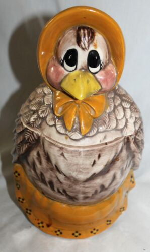 VINTAGE COUNTRY CRAFTS USA CHICKEN COOKIE JAR!  RARE FIND!