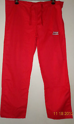 Red Gelscrubs Pant - GelScrubs Unisex Drawstring Scrub Pant Univ of Louisiana Ragin Cajuns  Sz Medium