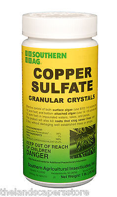 Southern Ag Copper Sulfate Granular Crystals 16 Oz  1 Pound
