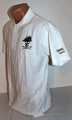 Captain Morgan White Rum Herren Man Men Polo Shirt klassisch weiß Gr. L NEU OVP