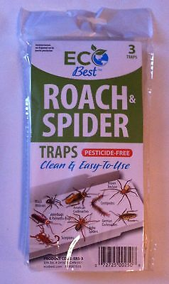 Eco Best Roach Spider Insect glue traps 3traps per pack NEW2018