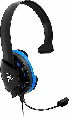 Turtle Beach Recon Chat Wired Mono Gaming Headset for PS4, PS4 Pro - Black/Blue