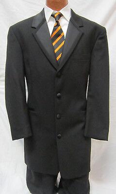 Mens Tuxedo Costume (Mens Black Perry Ellis Long Western Tuxedo Jacket Victorian Costume Frock)
