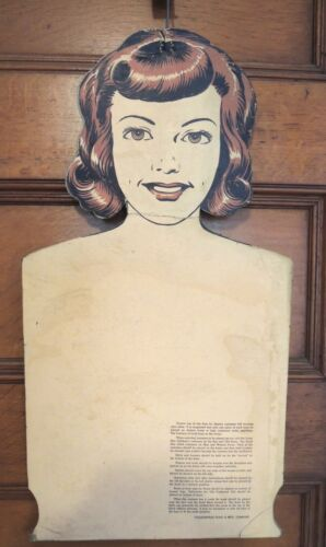 Vintage Costume Store Display Girl Form Hanger Collegeville 1950-60's Rare