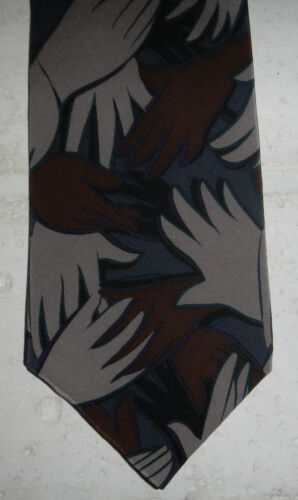 Vintage Beatles I Want To Hold Your Hand Album Song 100% Silk Mens Neck Tie