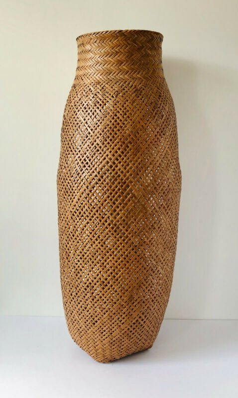 Hand Woven Colombian Basket Indigenous Crafts Beautiful!