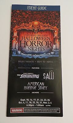 Halloween Horror Nights 27 Map Event Guide Universal Orlando 2017 - Halloween Horror Nights Map 2017
