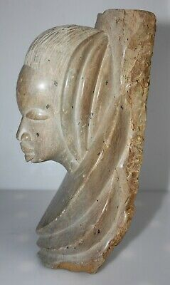 African Gabon Stone Soapstone Statue from Mbigou, Antique still Contemporary art
