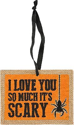 NEW!~Halloween Wood Ornament Sign ~