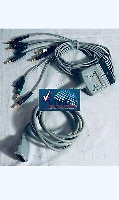 Ge Marquette Original Mac 1200 Multi-link Ecgekg 10 Lead Trunk Cable And Leads