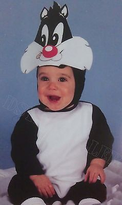 Baby Looney Tunes Sylvester the Cat Halloween Infant 0-9 Jumpsuit Costume. NEW!