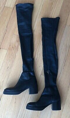 Acne Studios Thigh-High leather boots
