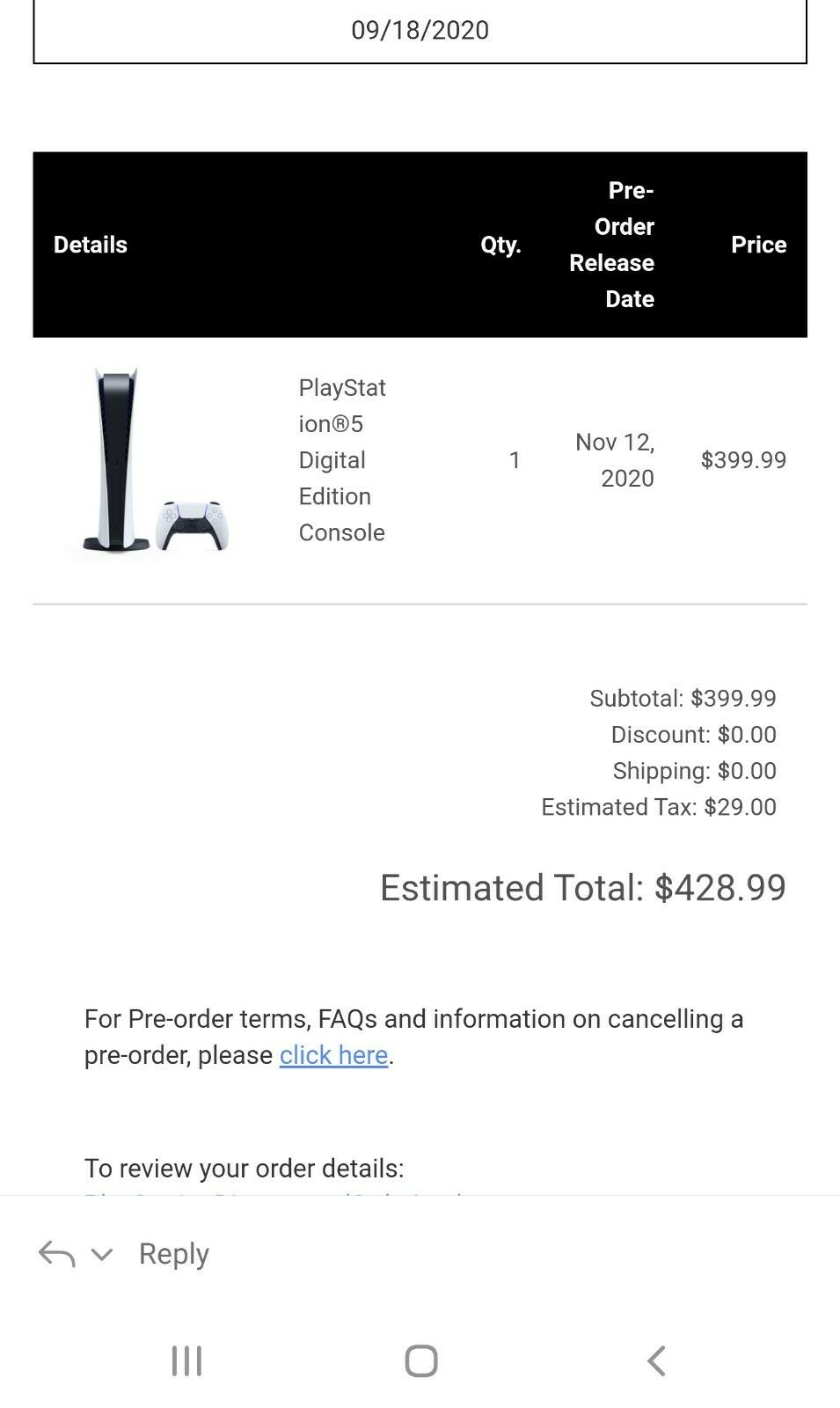 PlayStation 5 - PS5 Console Digital - SONY Confirmed ORDER!!