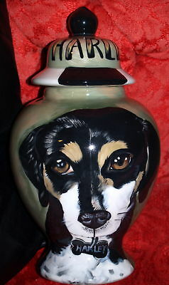 Custom ceramic memorial Pet URN DOG cremation all types of breeds Unique medium