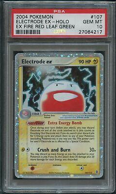 Pokemon Electrode Ex Holo PSA 10 Gem Mint 107/112 Ex Fire Red Leaf Green