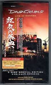 DAVID GILMOUR PINK FLOYD LIVE IN GDANSK 5 DISC BOX 3CD+2DVD JAPAN FACTORY SEALED