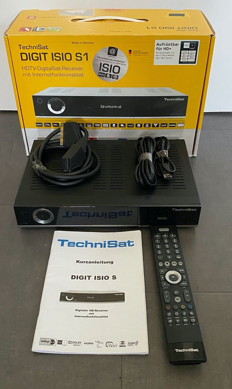 TechniSat Digit ISIO S1 HDTV-Digitaler Sat-Receiver Twin-Tuner HD+ Receiver