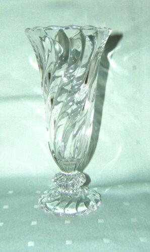 "Vintage Colony Fostoria Clear Glass Swirl Vase 6-1/8"" Tall"