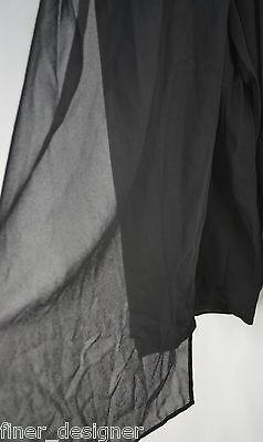R&K evening palazzo pants black semi sheer crepe elastic waist SZ 20W Vintage
