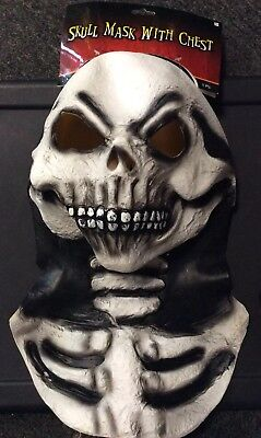 HALLOWEEN SKULL MASK WITH CHEST NEW WITH TAGS BEST ON MARKET AWESOME FREE SHIP](Halloween Best Masks)