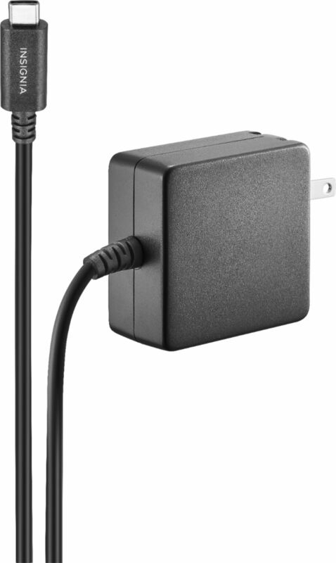 Insignia- 45 W 8 ft. USB-C Wall Charger - Black