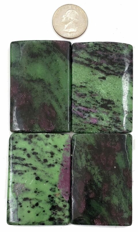 Ruby Zoisite HUGE 41x61mm Rectangle Focal Bead