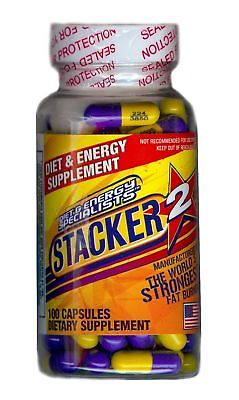 Stacker ephedra free 100ct bottle Energy & Weight Loss Supplement Exp. 7/2020 (Free Weight Loss)