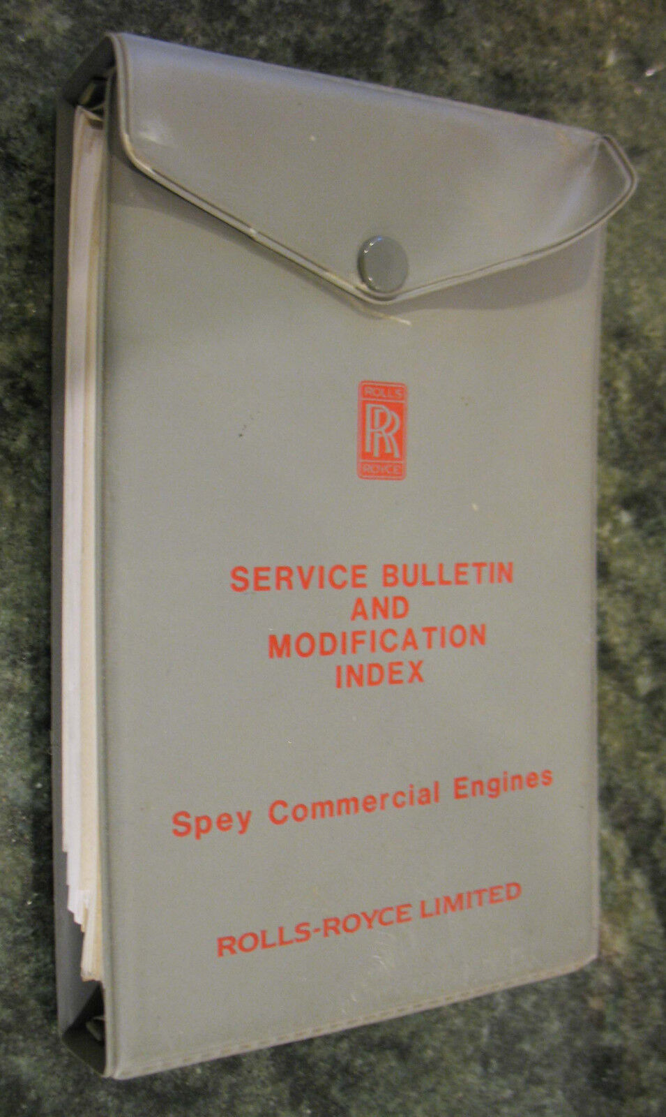 Rolls-Royce Spey Engine Service Bulletin and Mod Index Book
