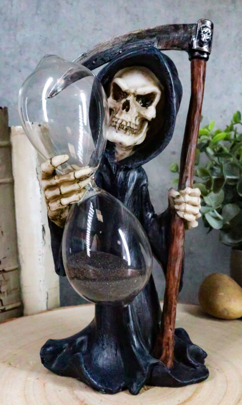 Ebros Time Waits for No Man Grim Reaper with Soul Scythe Sand Timer Figurine