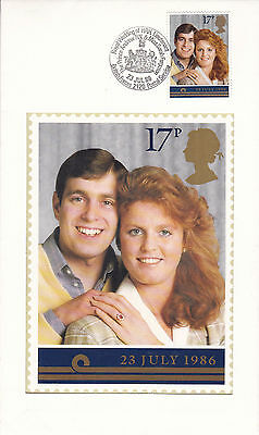 22 JULY 1986 ROYAL WEDDING PAIR OF PILGRIM FIRST DAY COVERs SHSs