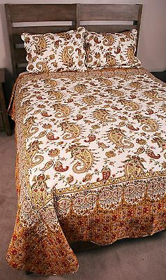 Regent Quilt Set French Country Provence Paisley Cotton
