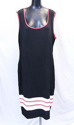 Boohoo Women's Plus Sport Stripe Midi Dress LP7 Black Size US:18 UK:22 NWT