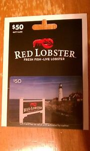 RED LOBSTER OR OLIVE GARDEN - $50 GIFT CARD - READ DESCRIPTION BELOW