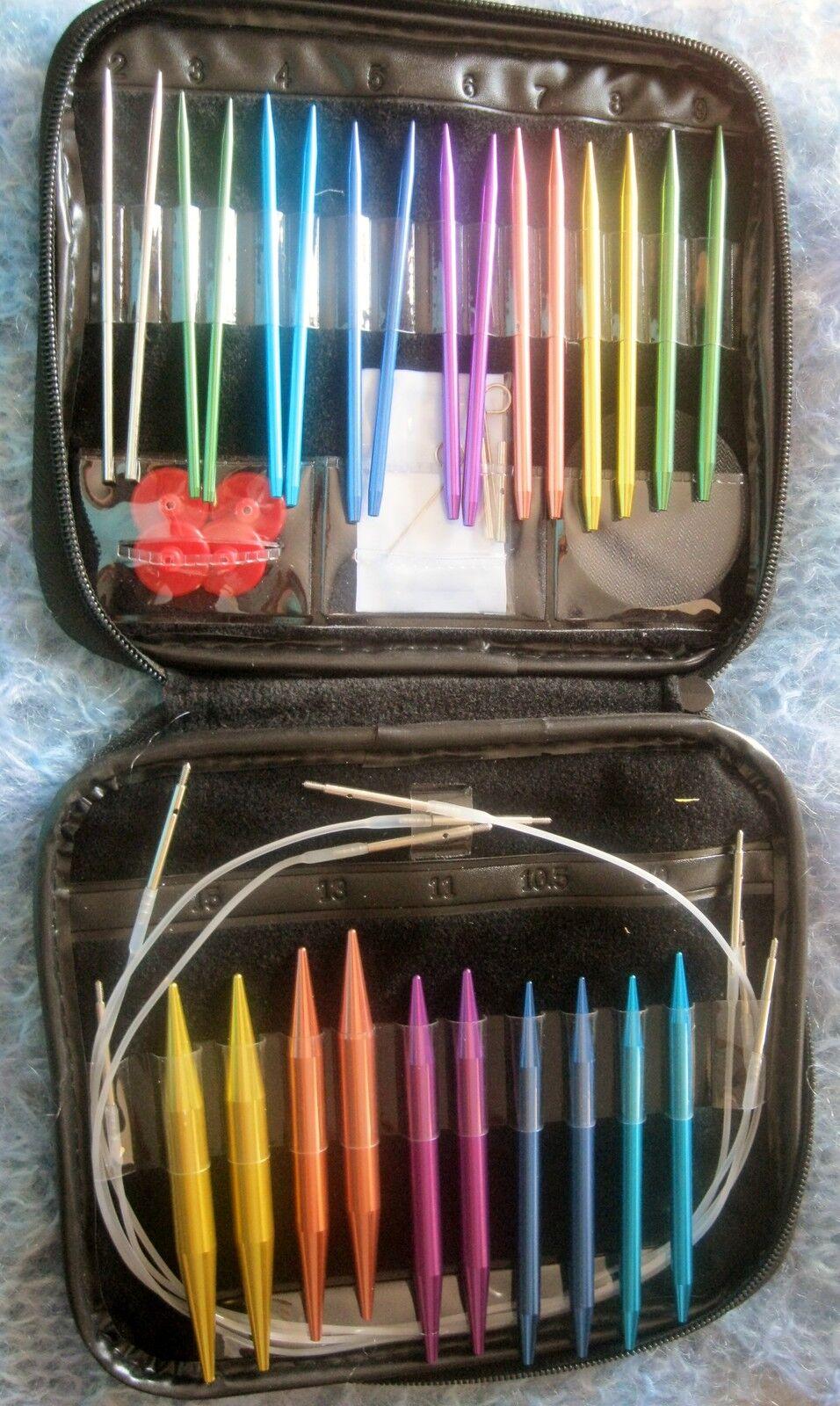 Boye Needlemaster Interchangeable Aluminum Knitting Set - 40 Pieces Knitmates