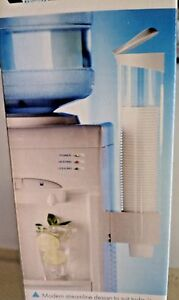 Cup Holder/ Dispenser for All Water Coolers (White)