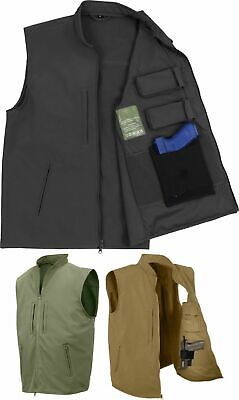 Professional Tactical Concealed Carry Vest Waterproof Soft Shell Cargo Gun -
