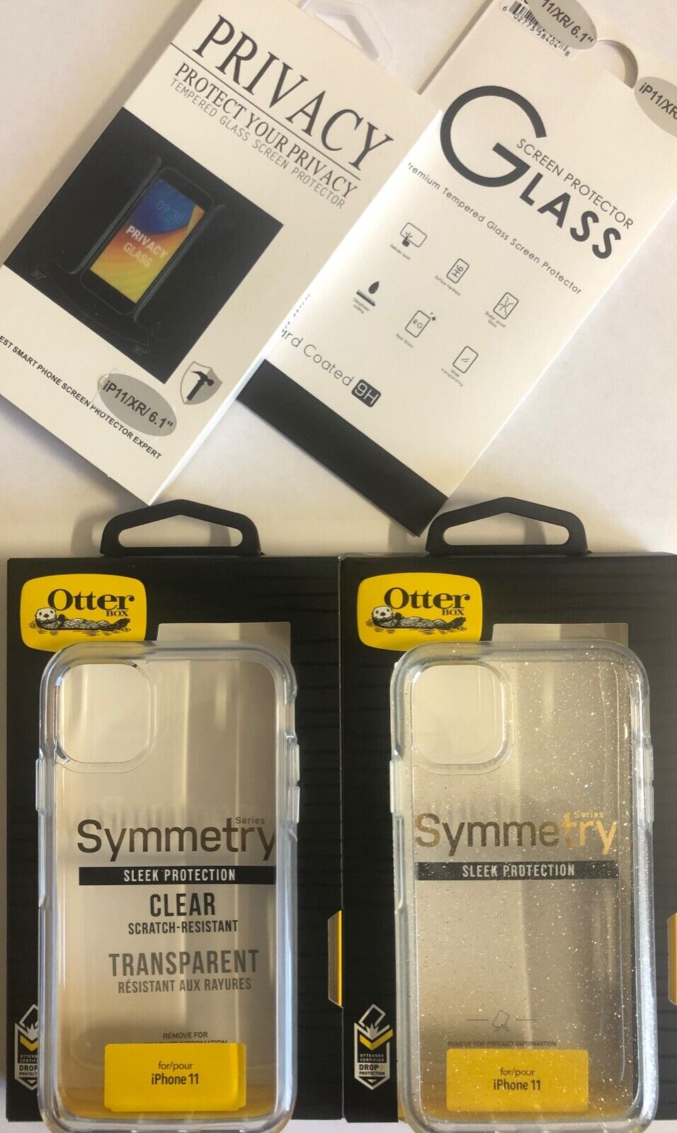 "Authentic iPhone 11 (6.1"") OtterBox Symmetry Case Clear / Stardust / Glass"