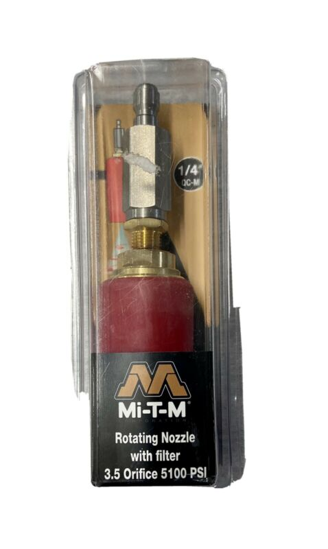 Mi-T-M Pressure Washer Rotating Turbo Nozzle with filter 3.5 Orifice 5100