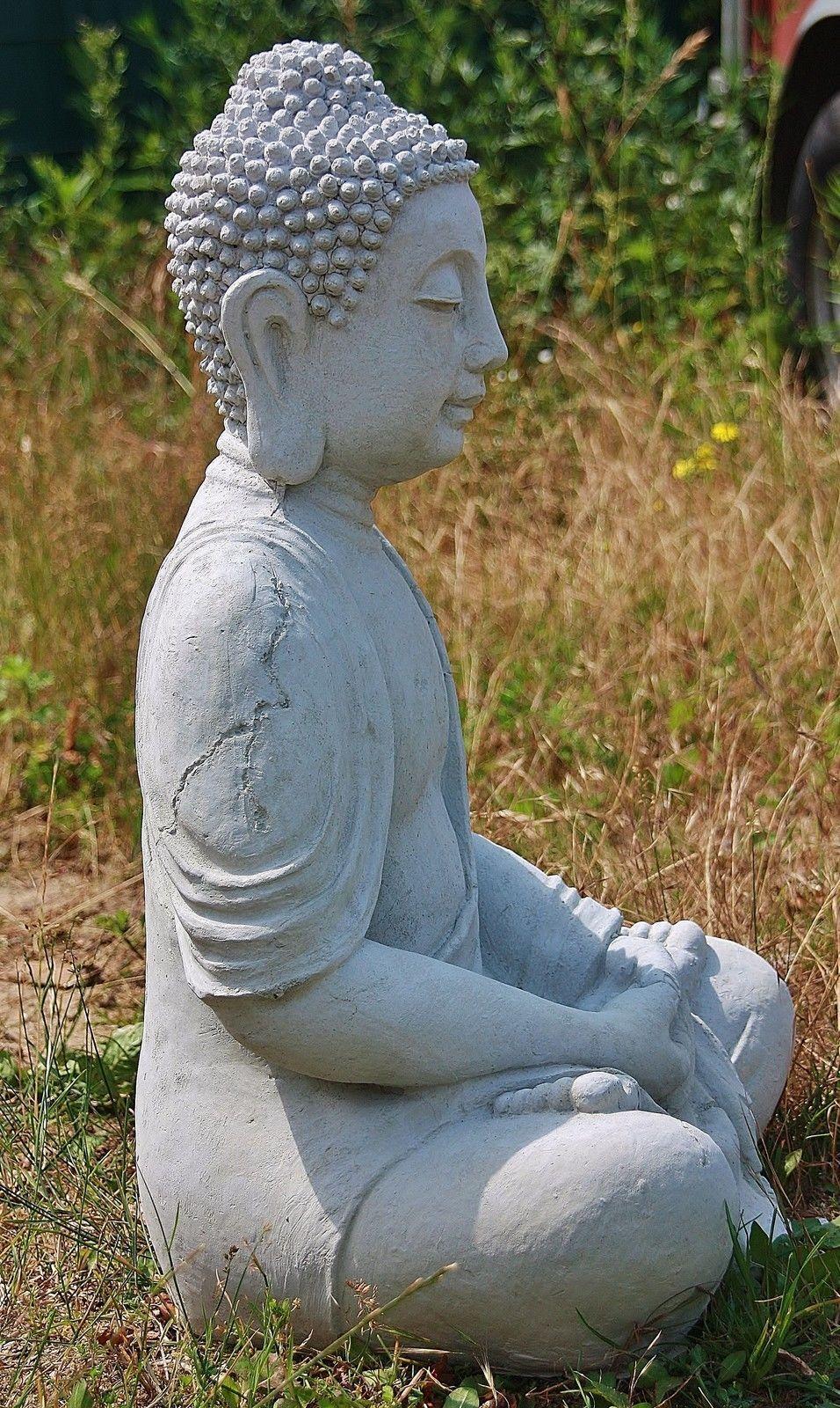 antik buddha gro h 65 cm aus steinguss dekoration frostfest neu f r garten 4014 eur 96 00. Black Bedroom Furniture Sets. Home Design Ideas