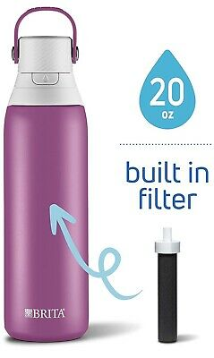 Brita 20 Ounce Premium Filtering Water Bottle with Filter- BPA Free -