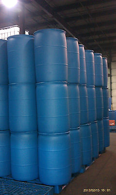 DRUM BARREL PLASTIC POLY 55 GALLON PROFESSIONALLY RECONDITIONED CLEAN