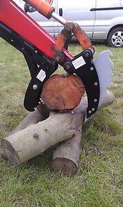 digger excavator  thumb grab, grapple, talon grip 1.5 - 2.5t 600mm fork, INC VAT